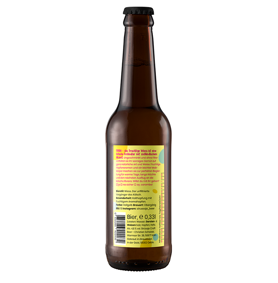 Strüssje Bier Köln - Frida Rückseite